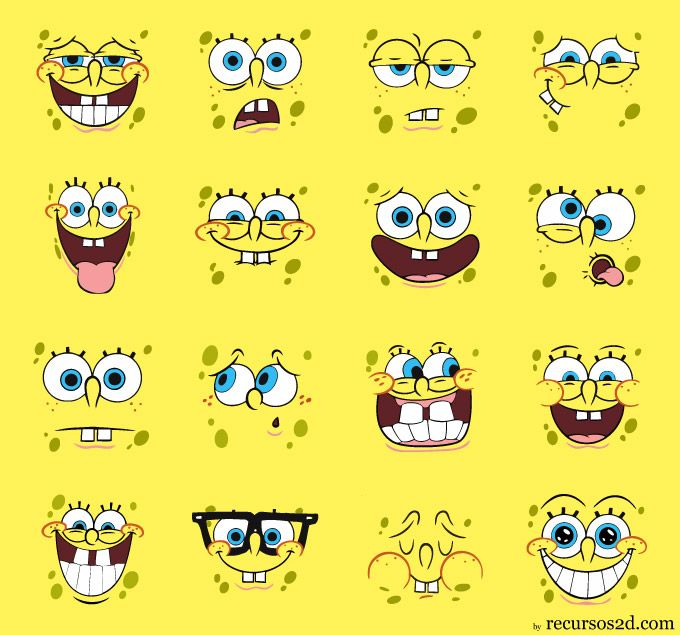 Spongebob emotions | For the Childrens | Pinterest | Faces ...