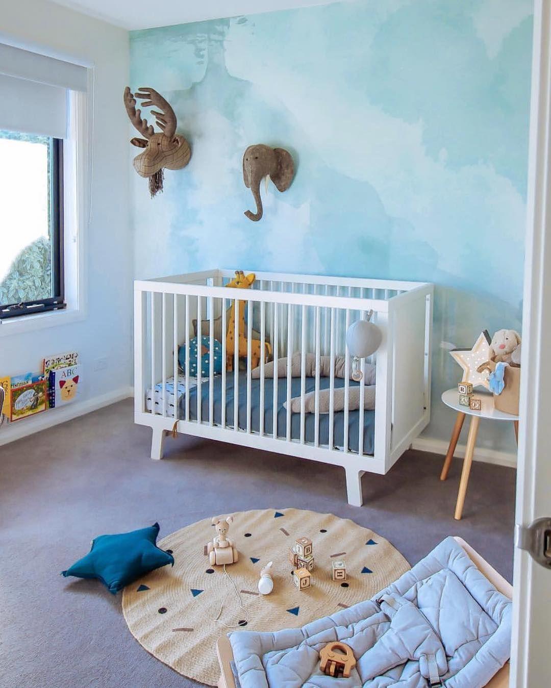 blauwe kinderslaapkamer   slaapkamer inspiratie   bedroom ideas ...