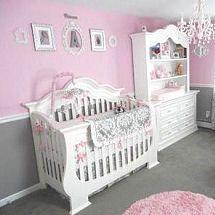 Pink And Gray Baby Princess Theme Nursery Room