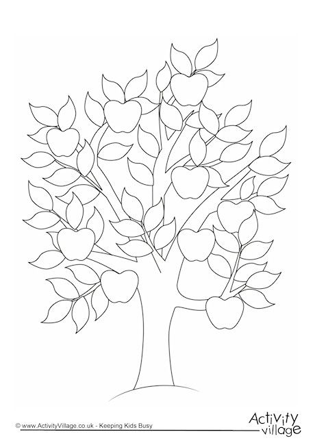 Apple Tree Colouring Page Kids Coloring Pages Pinterest Tree