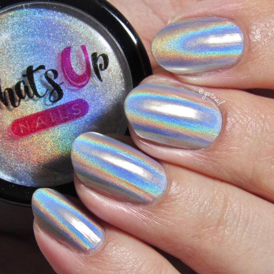 Extra Fine Holographic Chrome Nail Art Powder: Holographic Powder For Nails