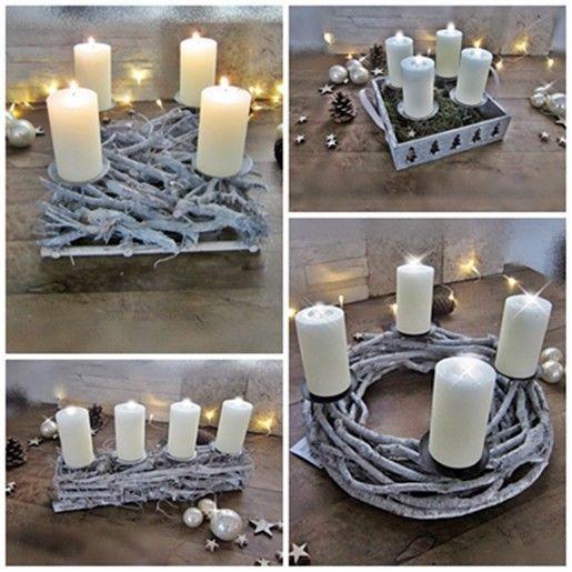 Adventskranz, Ästekranz, Kerzenhalter, Adventsgesteck, Weihnachten, Advent    Möbel U0026 Wohnen,