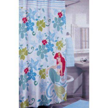 Amazon Com Disney Ariel The Little Mermaid Fabric Shower Curtain