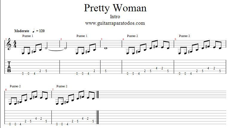 pretty woman - page 1 | Jazz | Pinterest | Guitars, Tablature and ...