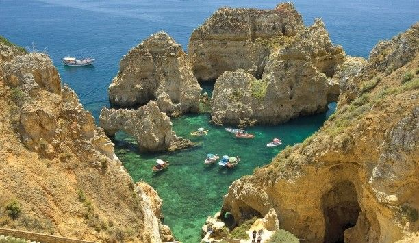 The grottoes of Ponte de Piedade near Cascade Wellness & Lifestyle - Lagos, Portugal #Jetsetter #JSTakeMeThere