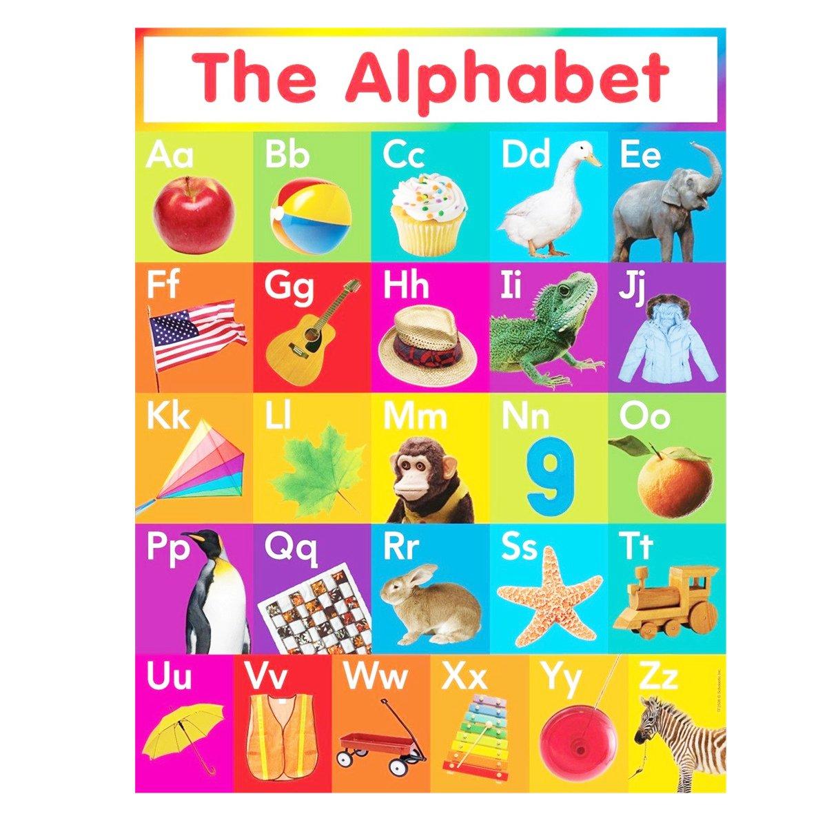 60x90cm ABC Alphabet Learn Children/'s Educational Silk Cloth Poster Art Room Bed