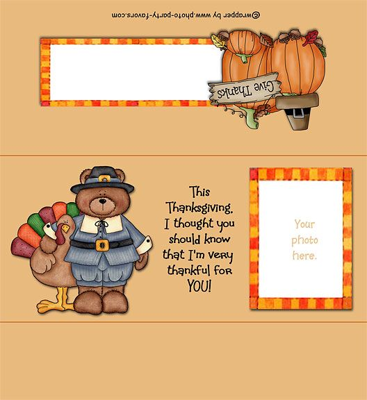 Thanksgiving Free Printable Candy Bar Wrapper Ready To