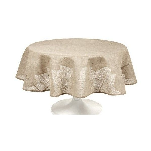 Couleur Nature Burlap Natural Tablecloth, 70 Inch ($40) ❤ Liked On Polyvore