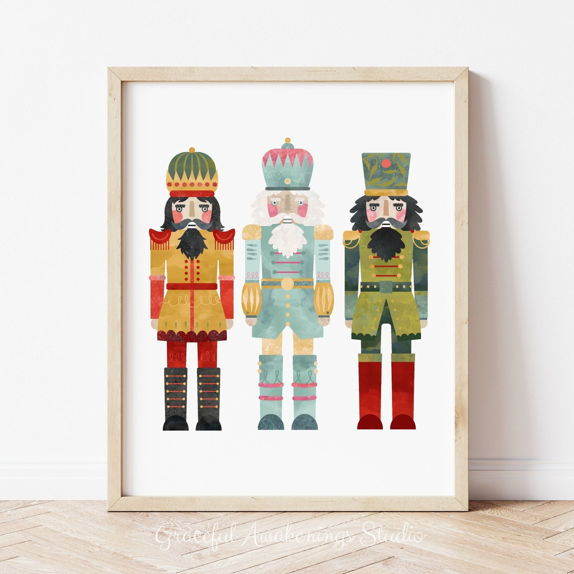 Nutcracker Art Print Nutcracker Ballet Printable Christmas Etsy In 2020 Art Prints Holiday Wall Art Christmas Art