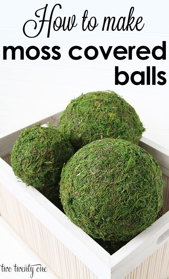 Decorative Moss Balls Amusing How To Make Moss Covered Balls  Pinterest  Craft Crafty And Gardens 2018
