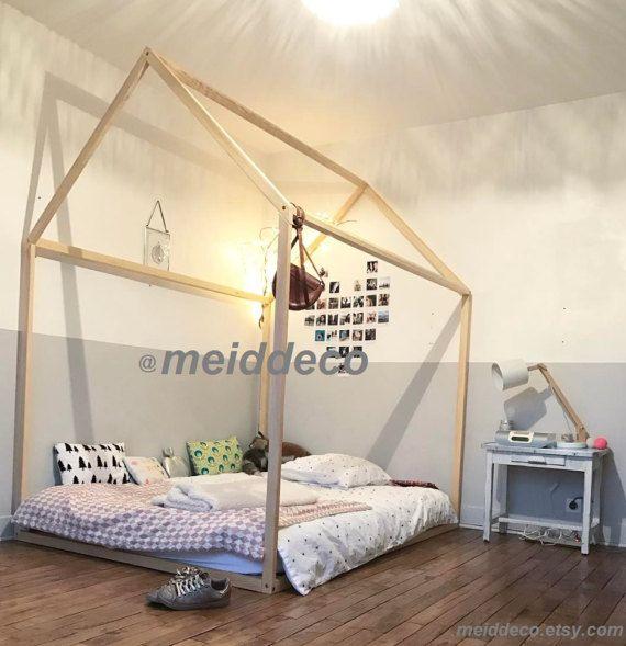 Doppelwohnhaus Größe Kinder Kinderzimmer Bett aus Holz. | Home ... | {Kinderzimmer holz 30}