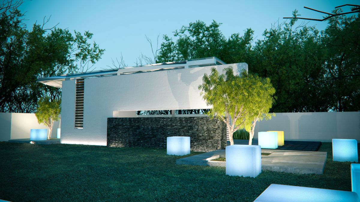 Asador para ese espacio logrado trabajo de terraza verde - Iluminacion de terrazas ...