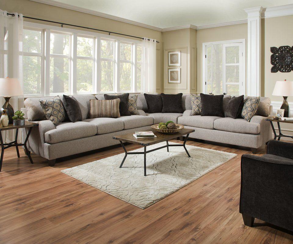 Hattiesburg Sterling 120 Reversible Sectional Wayfair Living