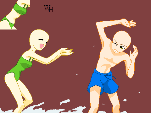 Water Fight Base By Xxxwitch Hazelxxx On Deviantart Figure Drawing Reference Drawing Base Anime Base