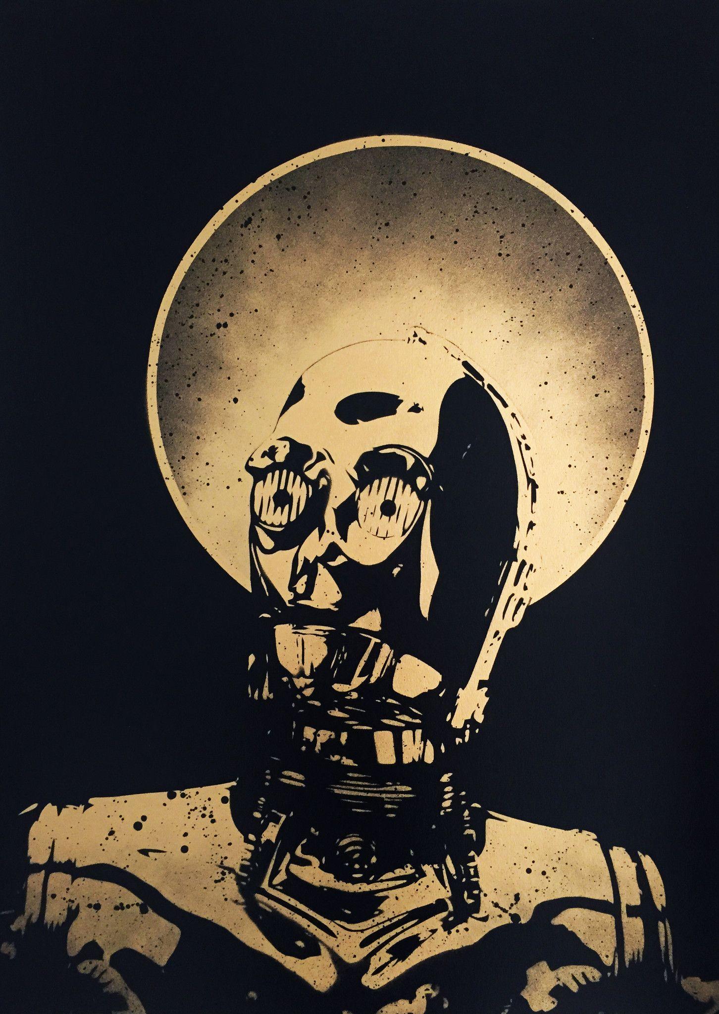 The false prophet (gold edition), Fake, limited, signed, Spraypaint, Stencil – prettyportal artshop, prints, urban art, streetart