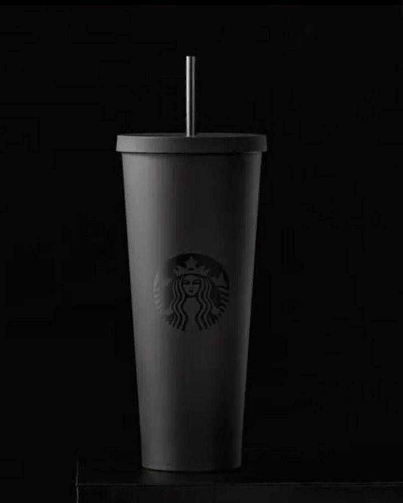 681633ab448 New Starbucks Christmas Holiday Acrylic Cold Cup Mug Matte Black, 24 ...