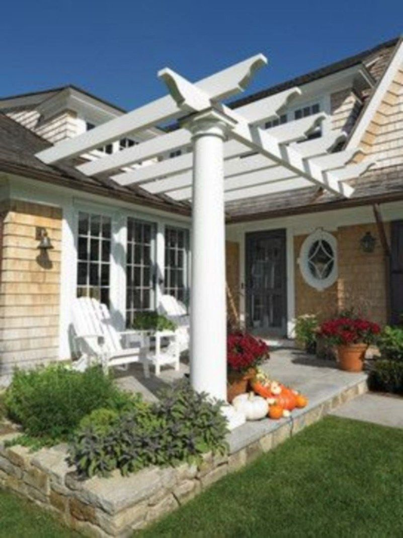 Cool Small Front Porch Design Ideas 13 Pergola Front Porch Pergola Front Porch Design