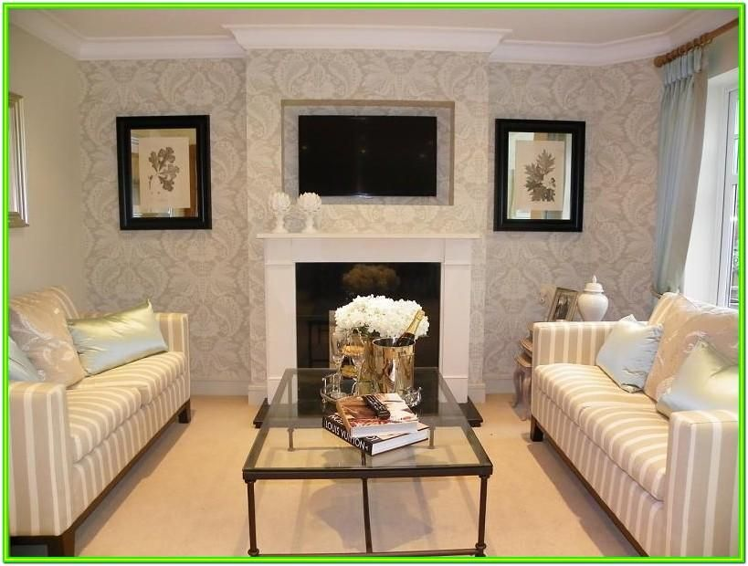 Wallpaper Ideas For Living Room Feature Wall Uk In 2020 Feature Wall Living Room Trendy Living Room Wallpaper Striped Wallpaper Living Room