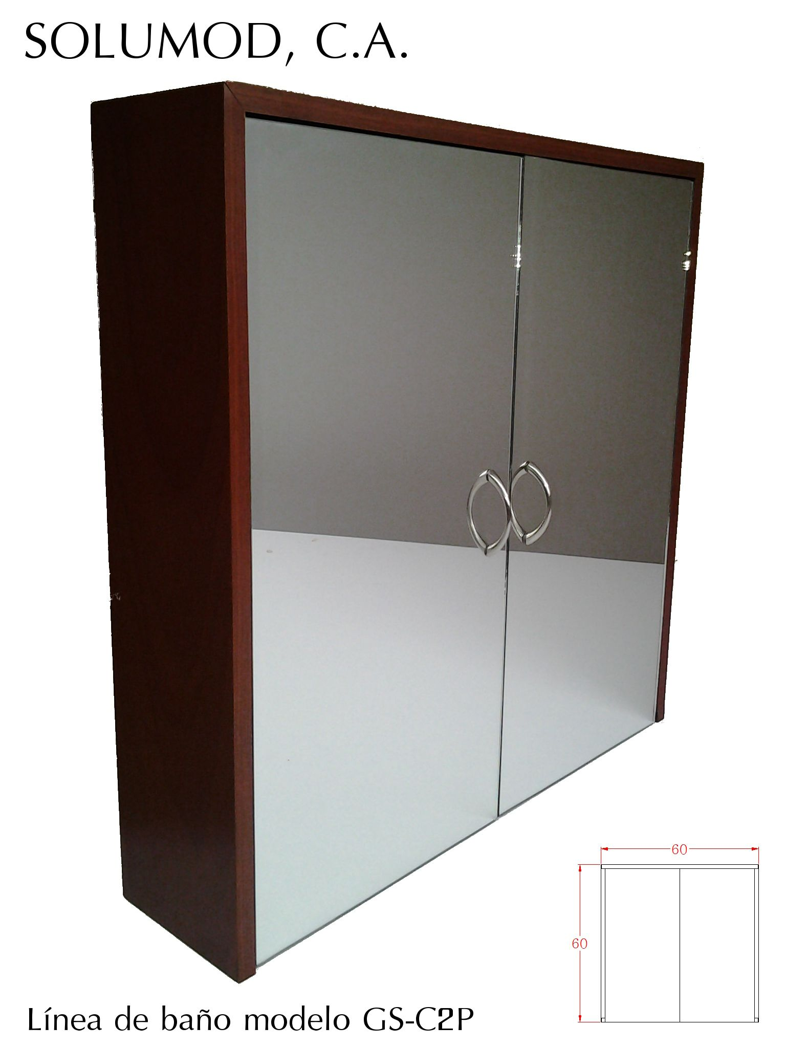 Modelo gs c2p armario de dos puertas con espejo posee for Puertas con espejo