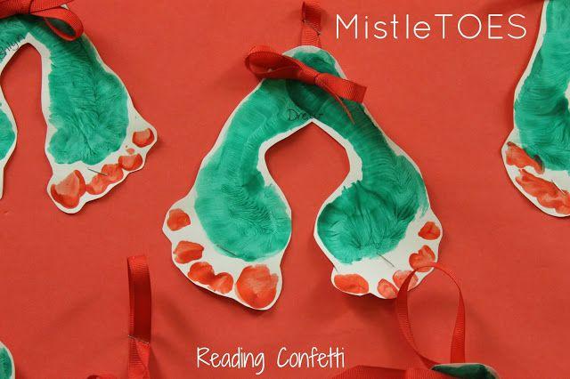 MistleTOES - cute footprint craft #mistletoesfootprintcraft