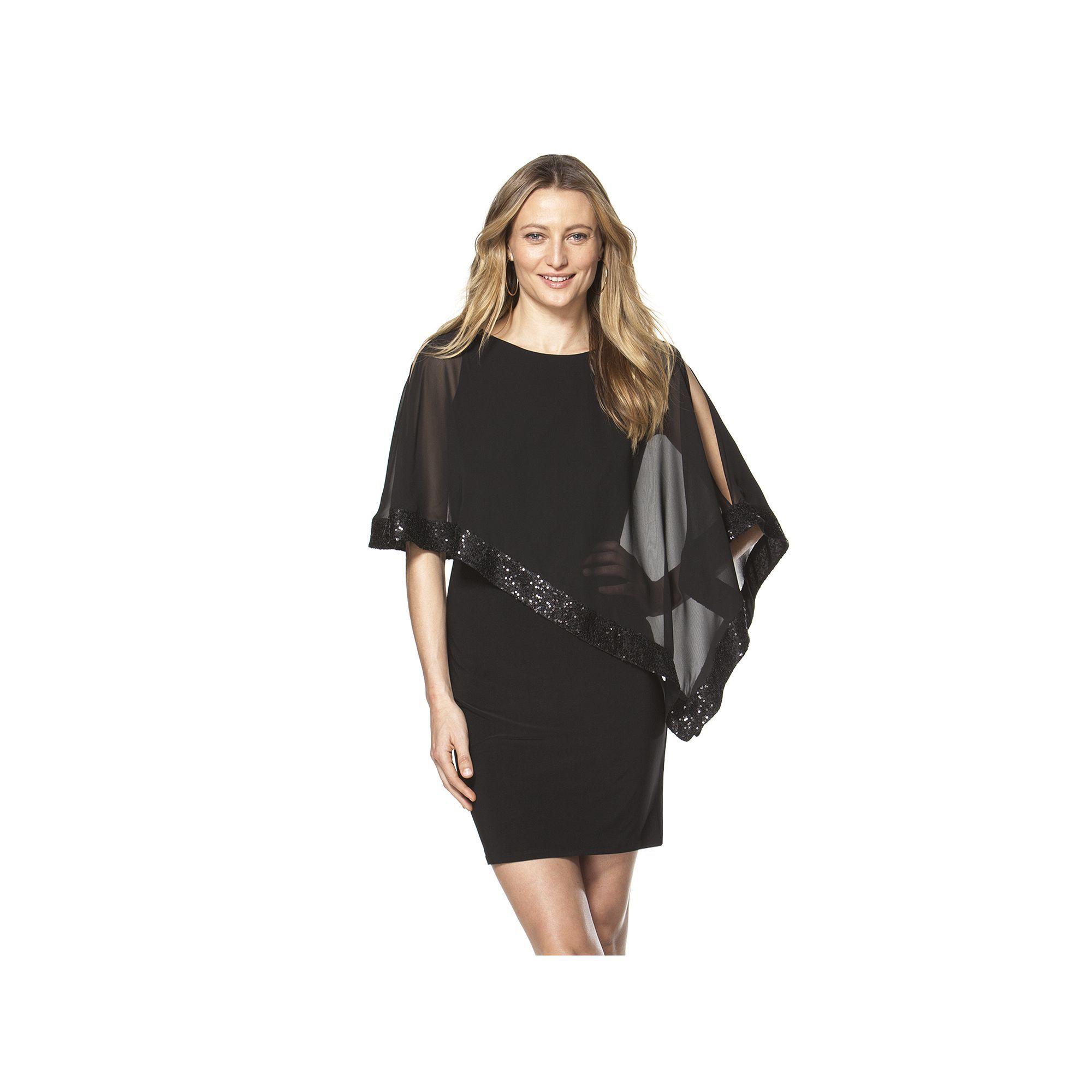 2f06baab888 Petite Chaps Sequin Popover Sheath Dress