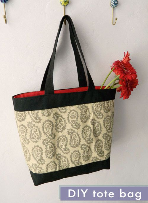 Canvas Tote Bag tutorial and free pattern - Transform a canvas ...