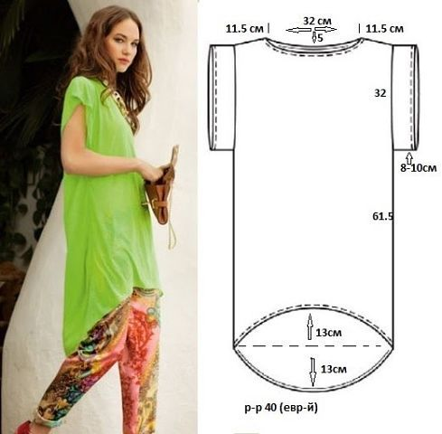 Ideas para el hogar: Túnica costura fácil   Moldes   Pinterest ...