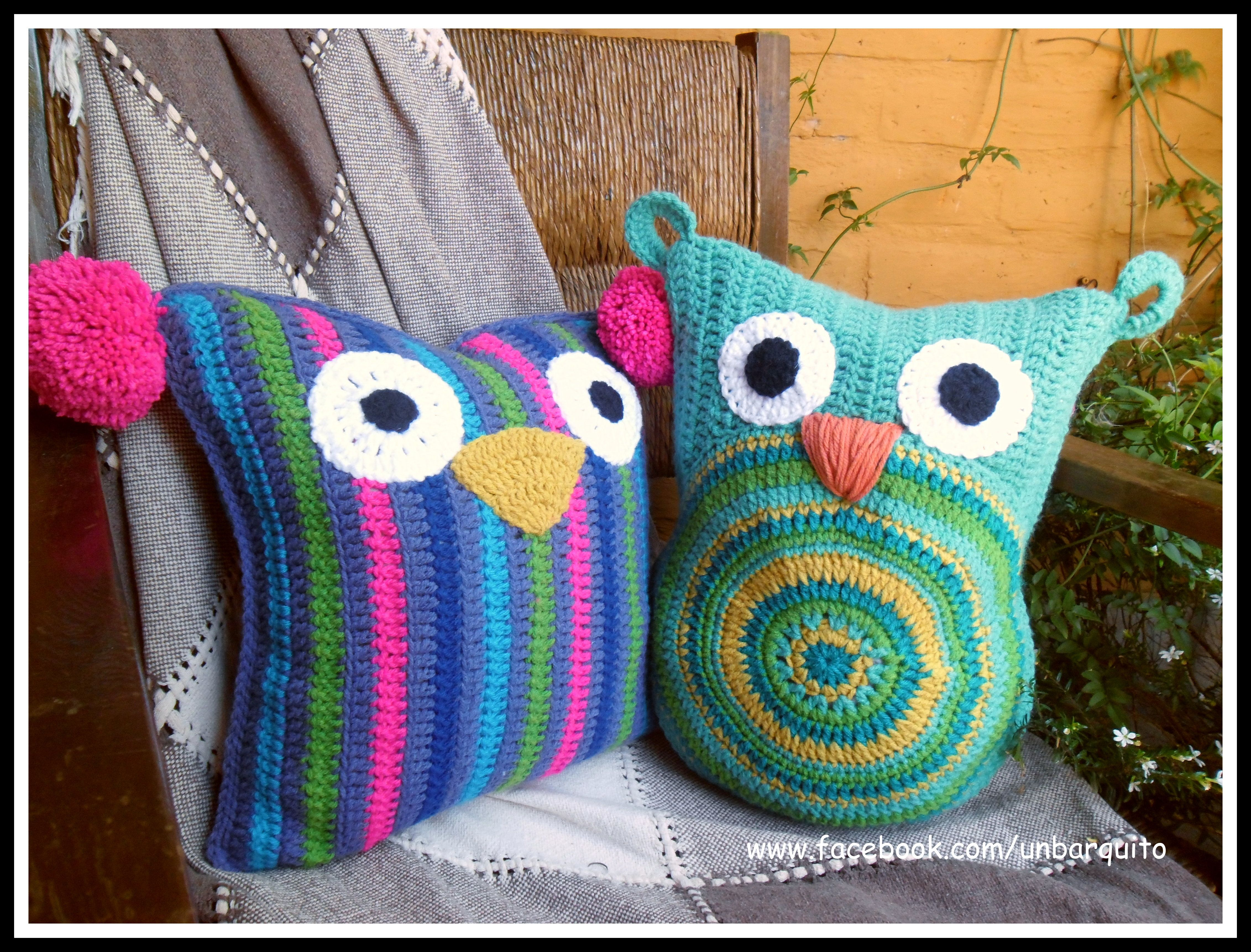 Almohadones buhos lechuzas decoraci n para el hogar for Decoracion hogar a crochet