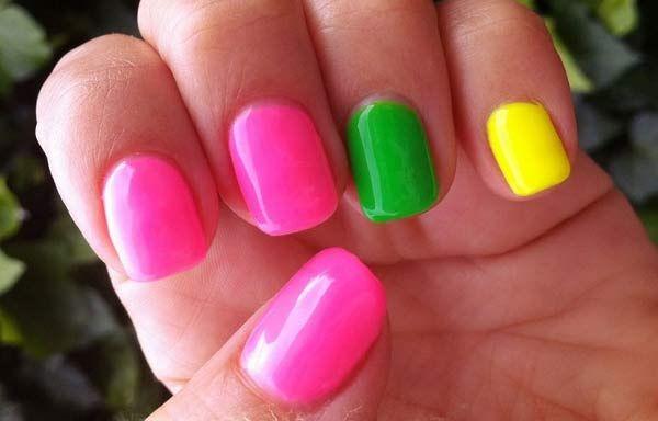 Unas Decoradas Colores Neon Nails Nails Bright Nails Reggae