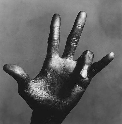 the left Hand of Miles Davis by Irving Penn 1986