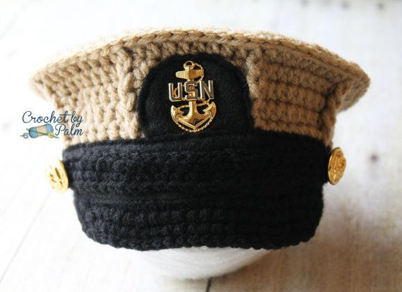 buy popular 6f07b d1f19 ... spain crochet navy chief hat us navy cover military hat by  crochetbypalm 35.00 f9621 02468