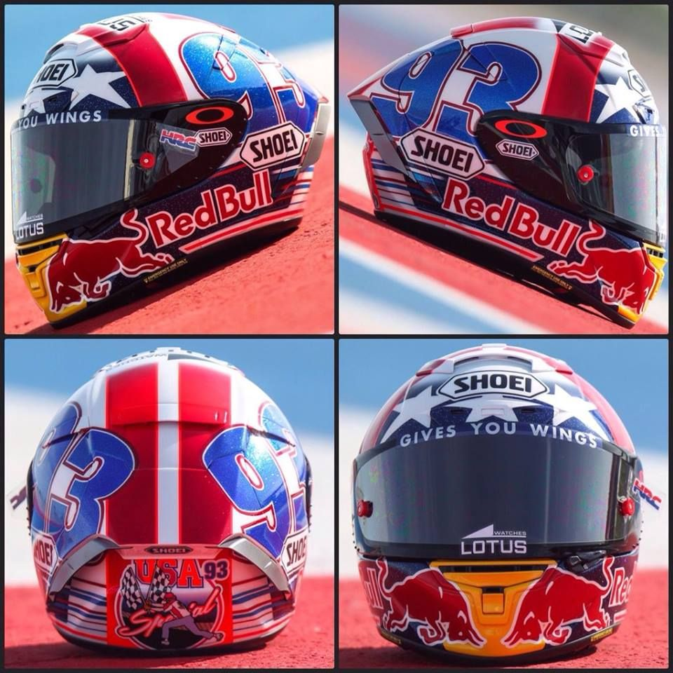 Mm93 Austin Cota 2016 Helmet Marc Marquez Pinterest Stiker Helm Desain Rpha Lorenzo