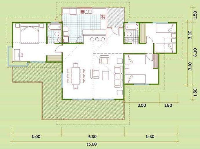 planos de casas de dos pisos 9m x 9m