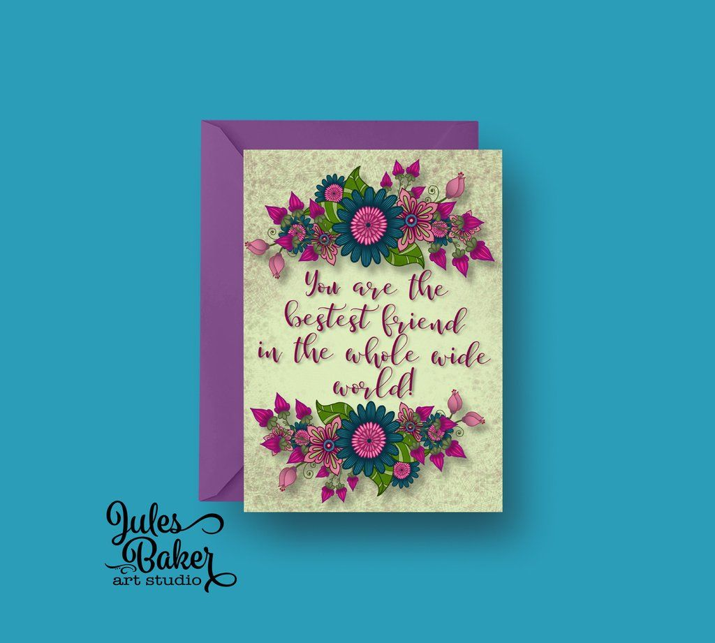 Friendship card you are the bestest friend in the whole wide world you are the bestest friend in the whole wide world greeting card 5x7 a7 kristyandbryce Image collections