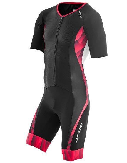 Orca Core Mens Triathlon Suit Black Red Race Tri Suit Cycling Running Swimming