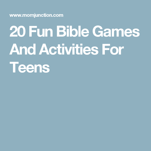 20 fun bible games and activities for teens youth ministry