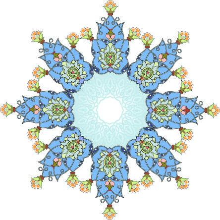 موسوعة صور المهندسة زخارف اسلامية 15 امتداد Eps Art Islamic Art Blue Frames