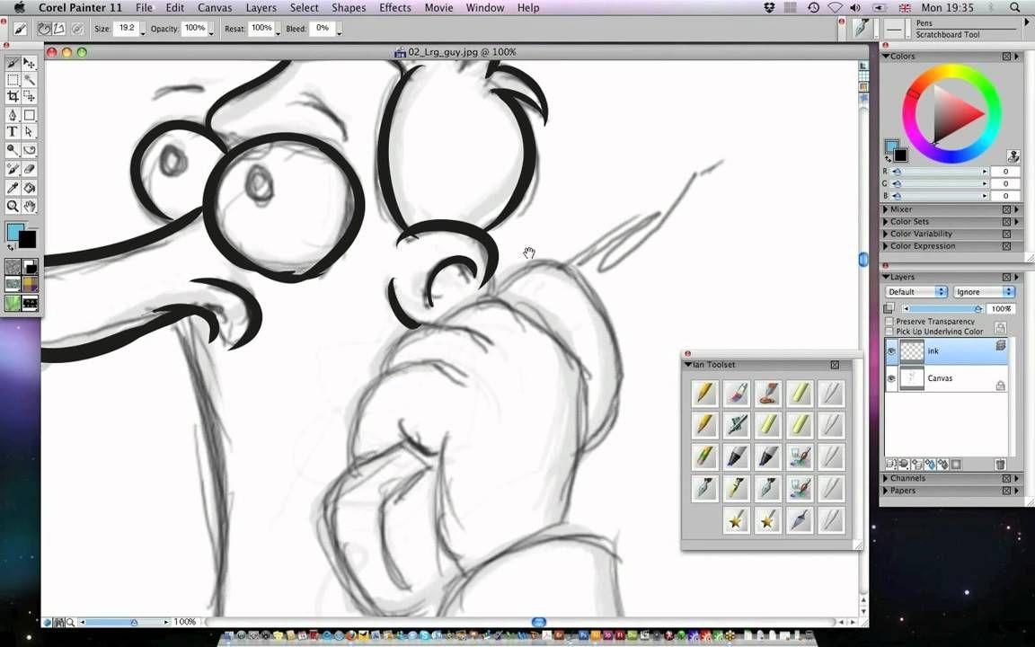Illustrator Cartoon Inking Coloring Techniques Sample Video 02 Grafik Anleitungen Ideen