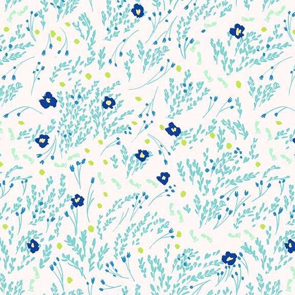 WeeWander Meandering in Seafoam 1 yard - Sarah Jane's Wee Wander by Michael Miller Fabrics by RoseRoomQuilts on Etsy https://www.etsy.com/listing/241957488/weewander-meandering-in-seafoam-1-yard