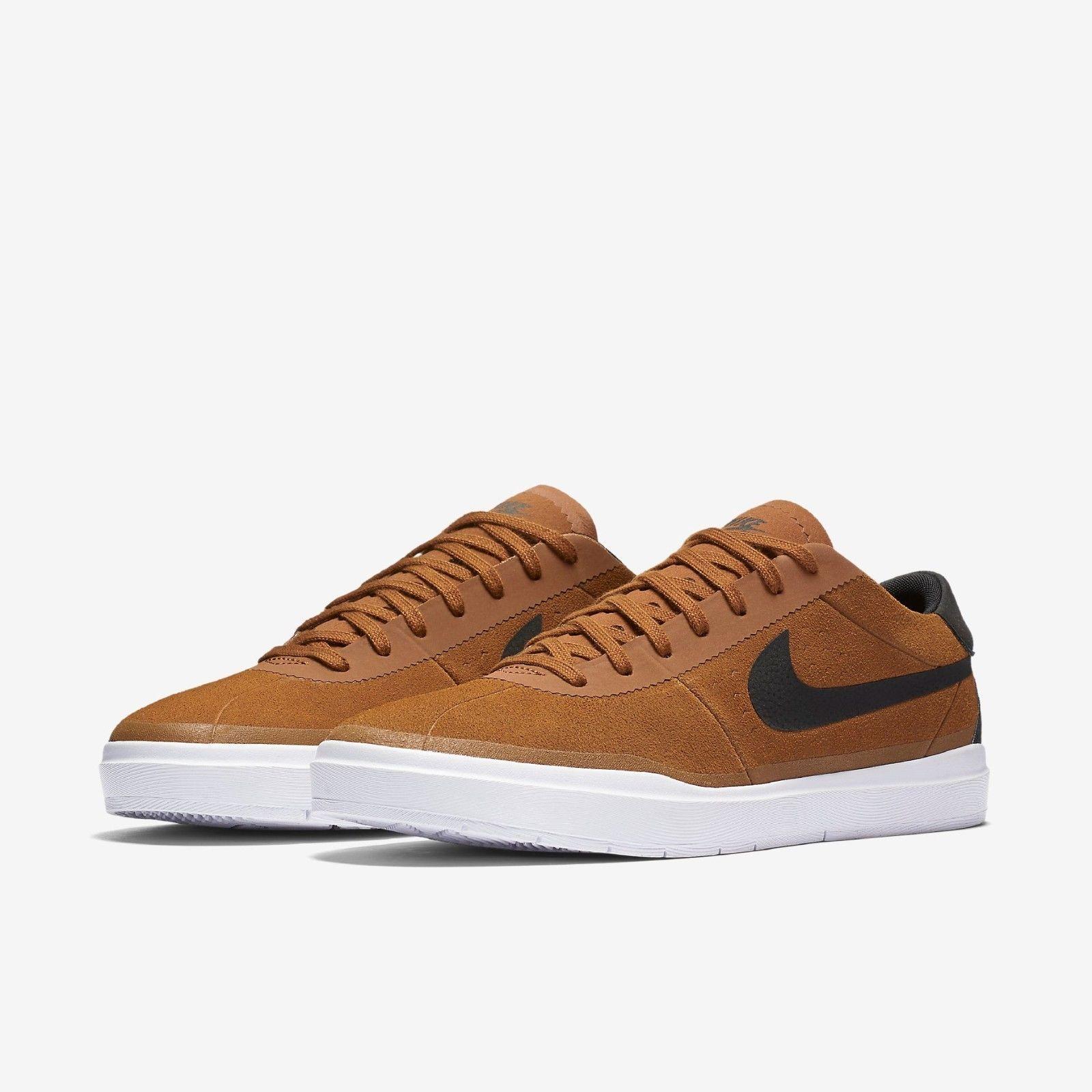ab08352229b Nike SB Bruin Hyperfeel Shoes in Hazelnut Black White - 9.5 NWT 831756-202