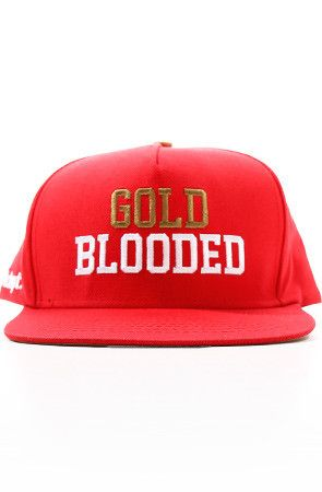 Adapt Advancers — GOLD BLOODED (Red Snapback Cap) 391b60b73e3