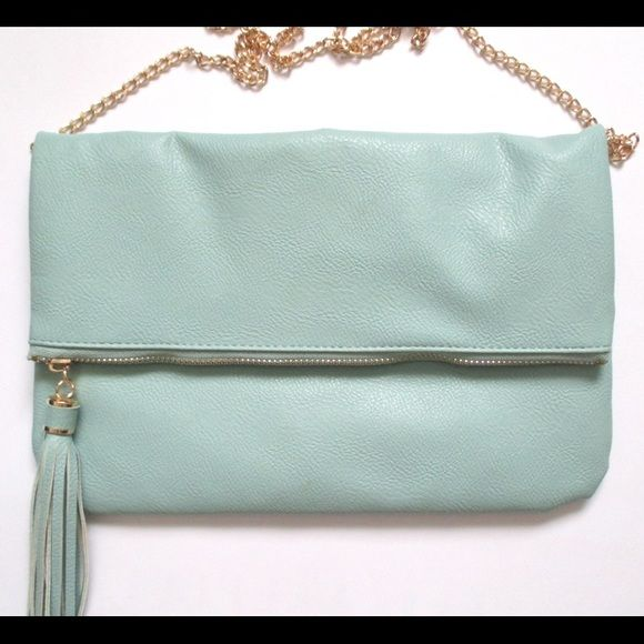 Mint Tassel Ccrossbody Clutch NEW!  - Removable strap   $18 ️️ shipped! ❌Trades. Bags Crossbody Bags