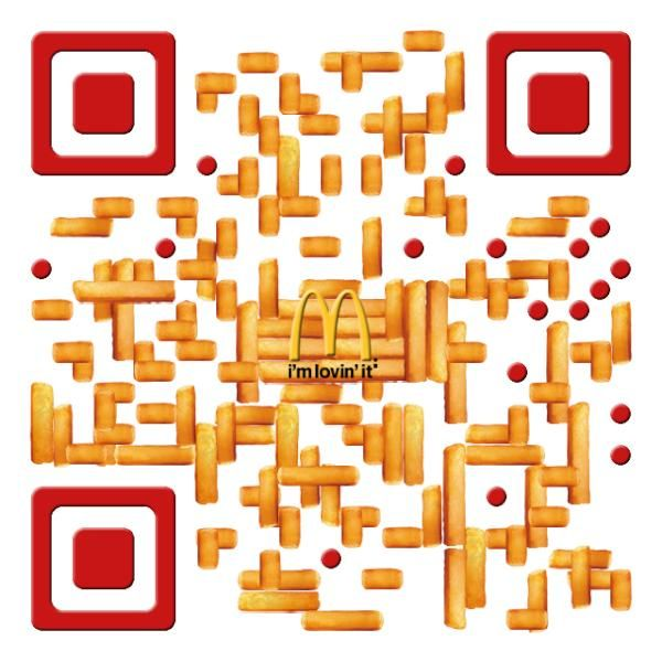 Mcdonald S Qr Code Made Out Of French Fries Qrcode Mcdonalds Qr Code Business Card Coding Code Art
