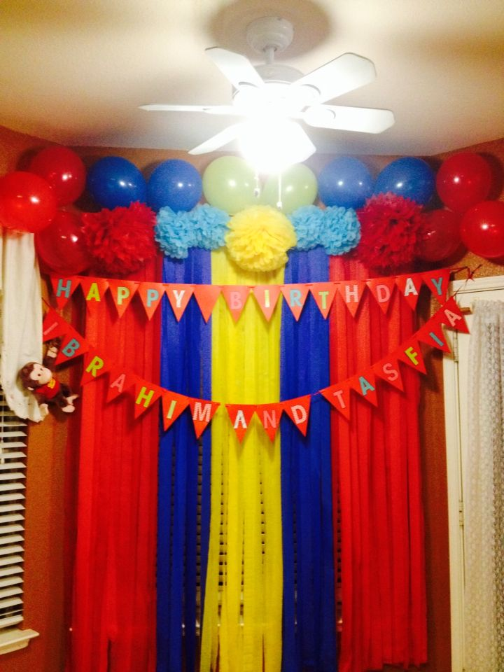Curious George Themed Backdrop Themed Party In 2019