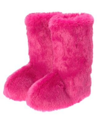 b1e56a7161b7 I love my pink fuzzy slipper boots - every girl needs a pair