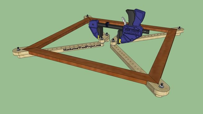Large preview of 3D Model of Frame Clamp
