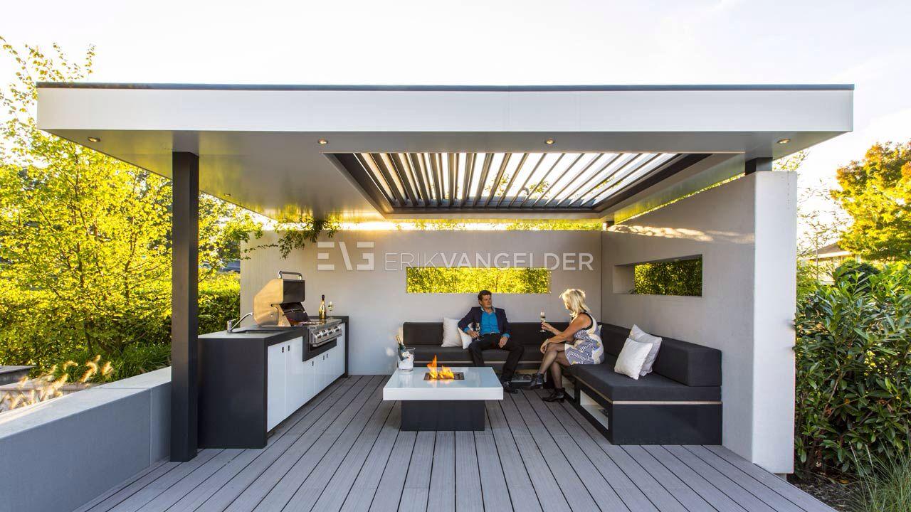 Afbeelding van http://tuinontwerp-garden-design.com/wp-content/uploads/2014/09/High-end-design-all-fresco-design-canopy-design-overkapping-met-lamellensysteem-vuurtafel-maatwerk-loungeset-maatwerk-buitenkeuken-hoogglans-met-barbeque-design-Erik-van-Gelder-overkapping-design.jpg.