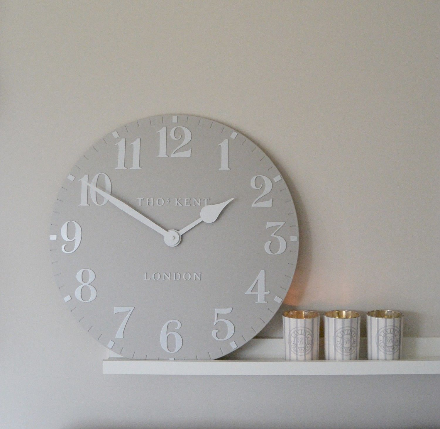 Clocks for bathroom wall - Clo006 Dove Grey 12 22 Thomas Kent Wall Clock