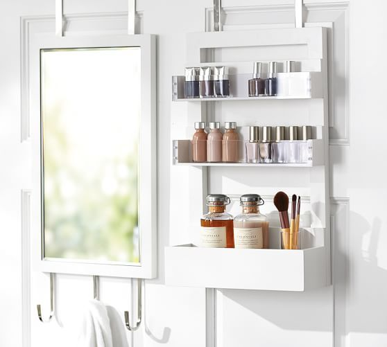 This would be perfect for the back side of the linen closet door, if it fits   Vanity Station | Pottery Barn