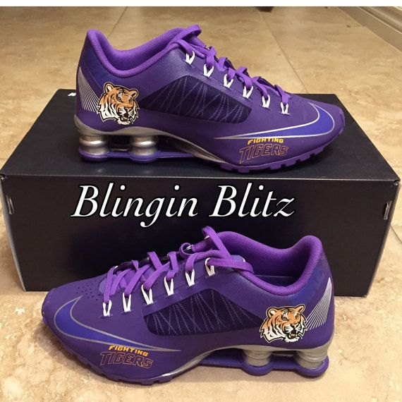 finest selection d0dce c5b01 Ladies LSU Shox by BlinginBlitz on Etsy